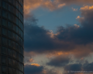 curved glass wall against the sunrise -  1 - 20140227-DSC_0362 -_
