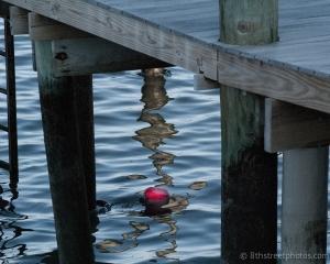 red buoy under pier -  - 20140321-DSC_0341 - 20140321