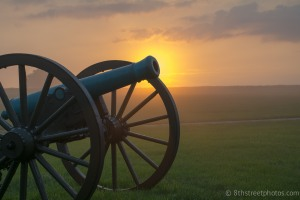 cannon with rising sun behind - 20140522-BER_0551 - 20140522